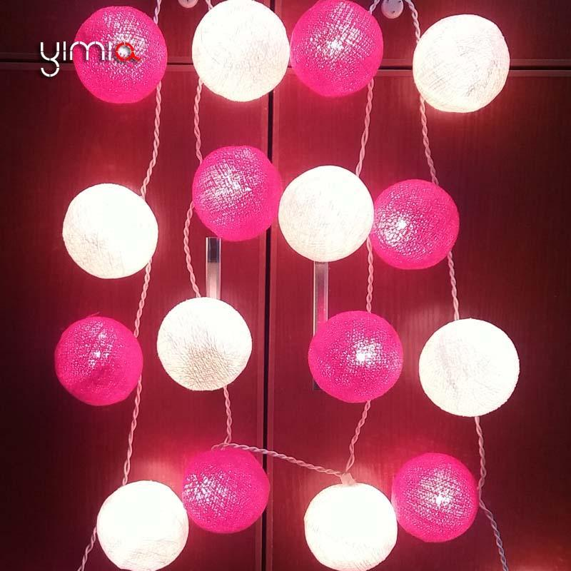 Decorative Ball Lights Unique Wholesale Yimia 20 Cotton Ball Light Led Fairy Christmas Holiday Inspiration Design