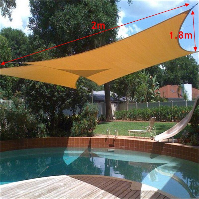 2018 Sun Shade Awning Sun Block Sail Shelter Net Outdoor Garden Car Cover  Canopy Patio Swimming Pool Sunscreen Accessories 2x1.8m From Txbiao, ...