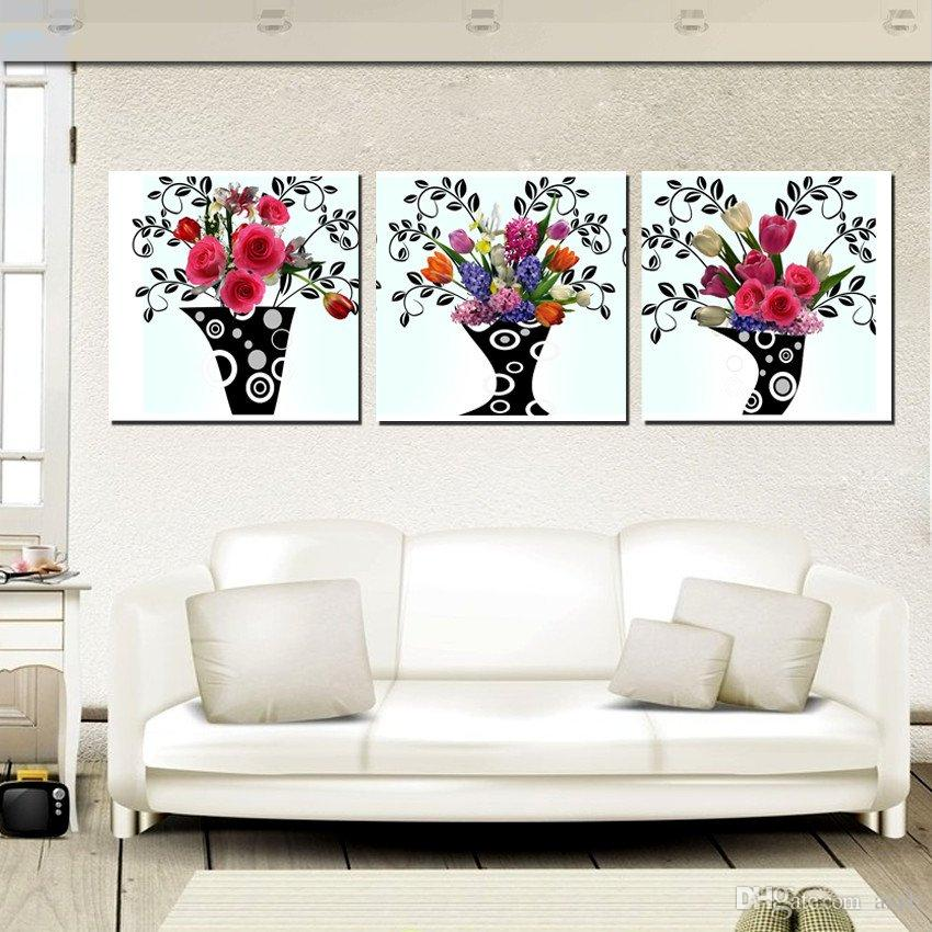 unframed on Canvas Prints Abstract pot potted flower sea sandy beach Sunshade fish Plum chinese rose rose Porcelain