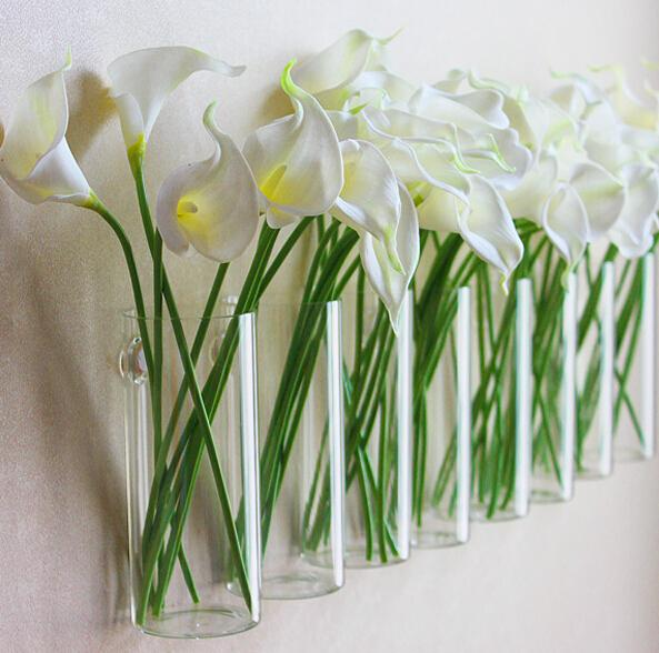 Modern Wall Design Wall Glass Vases Flower Pots Planters Home Decoration Flower Vases Glass