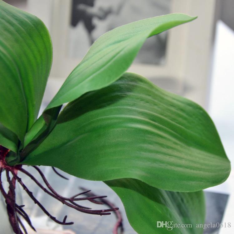Wholesale 58cm 12 heads Phalaenopsis Artificial flower EVA silk flower decoration butterfly flower for home table vase