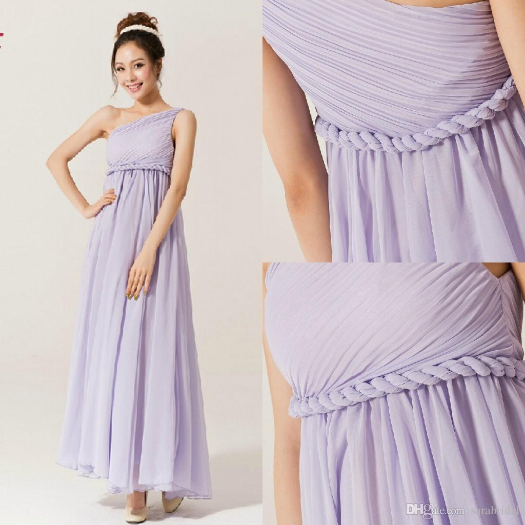 Lavender bridesmaid dress long one shoulder ruffle sash column lavender bridesmaid dress long one shoulder ruffle sash column ankle length chiffon cheap in stock women casual dress evening short lace bridesmaid dresses ombrellifo Image collections