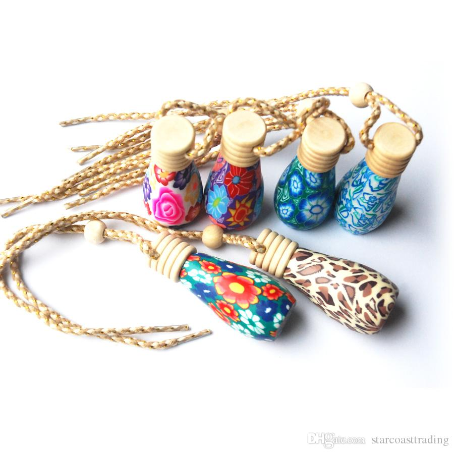Mixed Wholesale Essential oil diffusers / car diffuser / Polymer clay perfume bottles / A variety of styles F006005S6