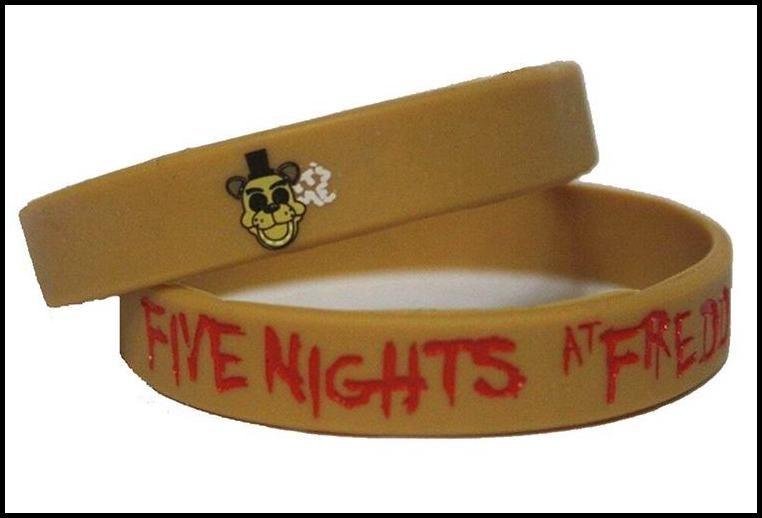 Prettybaby freendy의 실리콘 팔찌 손목 스트랩에서 7 일 5 박 할로윈 크리스마스 Pt0230에 대한 FNAF 그림 아이 장난감 # DHL FREESHIP