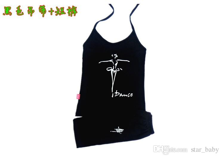 Latin Dance Print Lace-up Neck Cotton Sleeveless Dancers Children Clothing Tank Tops T-shirts Kids Clothes Vest Sun Top Tees D5023