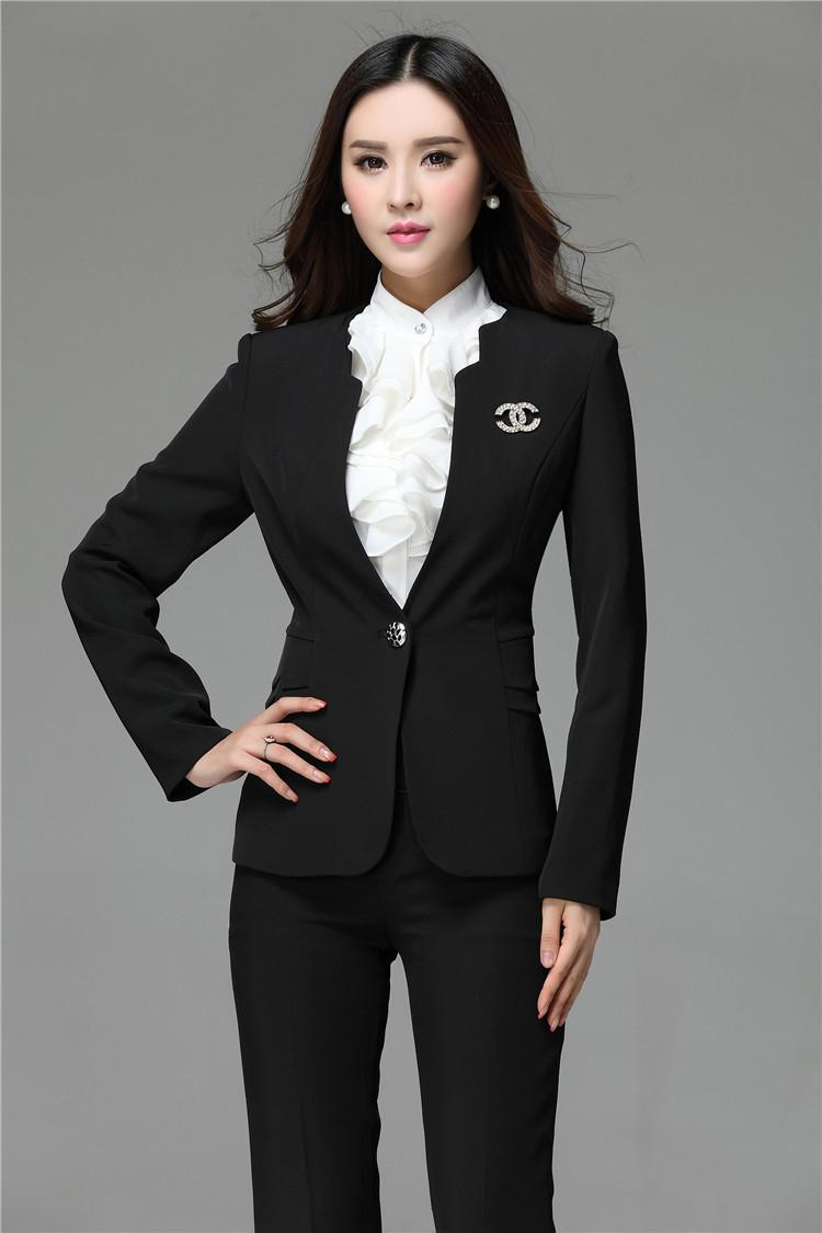 2015 Formal Blazer And Pant Set Women Business Suits Formal Office Suits  Work Fashion Ladies Office Uniform Styles Work Clothes UK 2019 From  Amybabyclothes ba860f62ad