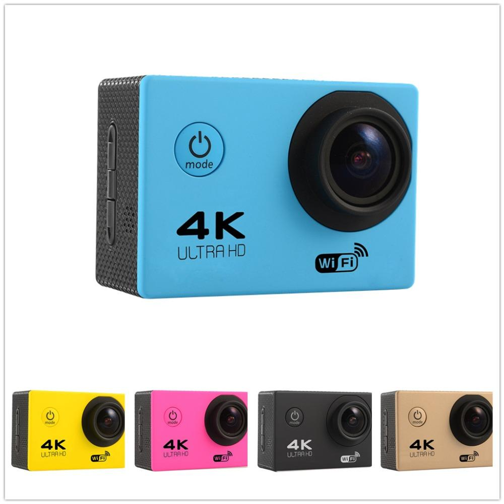 new action camera f60 ultra hd 4k wifi go pro camara. Black Bedroom Furniture Sets. Home Design Ideas