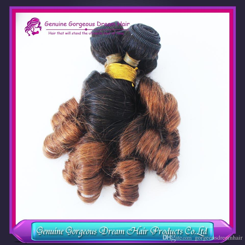 Two tone Spring Curl Funmi Human Hair Extensions Aunty Funmi Hair Bundles Human Hair Weave Bundles Bouncy Romance Curls Ombre Color