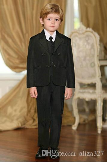 Mode 3 Stück Designer solide gut aussehend schwarze Anzüge für Jungen im Angebot formale Jungen formelle Kleidung Jungen Anzüge Jungen Kleid Jungen Anzug