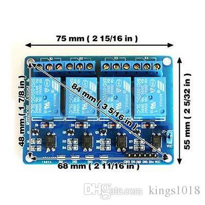 Modulo a relè blu a 4 canali 5V Low Strigger Arduino PIC ARM DSP AVR MSP430
