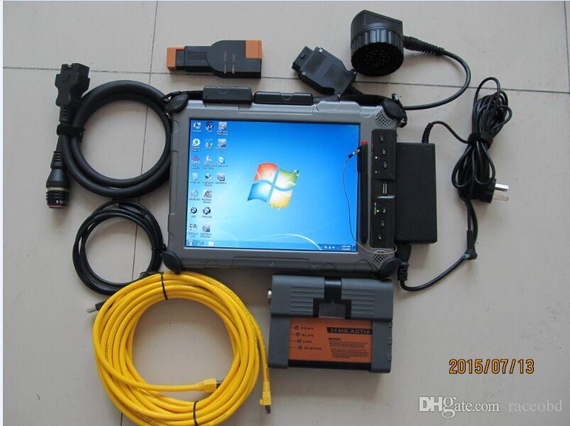Strumenti professionali Scanner diagnostici BMW ICOM A2 con 480 GB SSD Rugged Tablet PC Xplore IX104 C5 I7