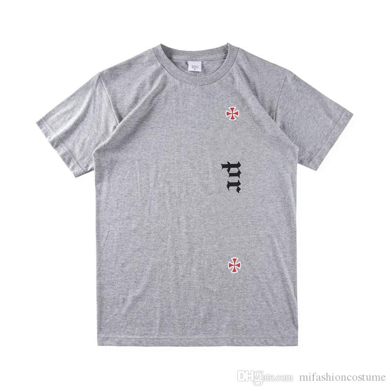 Box logo Hip Hop Independent Old English Tee Skateboard Cool T shirt Men Women Cotton Casual TShirt