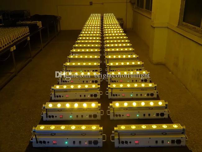 Wedding decorative led lights/ RGBWA+UV 6leds battery powered wireless dmx led uplighting /wireless dmx led stage light