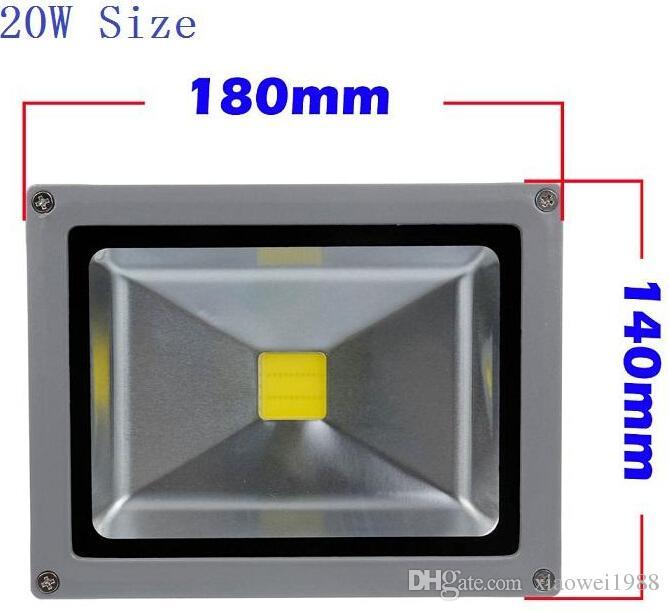 La lumière d'inondation menée RVB 10W 20W 30W a mené des projecteurs imperméable à l'eau a mené les lumières extérieures couleur changeant la fonction de mémoire AC 85-265V + à télécommande