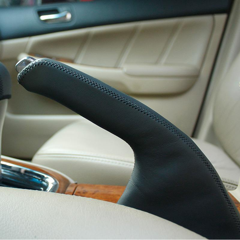 Honda Accord 7 Handbrake Cover Car Styling Genuine Leather Interior Decoration Accessories For Cars From