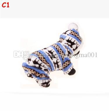 Pet Dog Christmas Clothes Winter Pet Dog Clothes Reindeer Snowflake Warm Coral Fleece Jacket For Small Dogs Coat Hoodies For Chihuahua