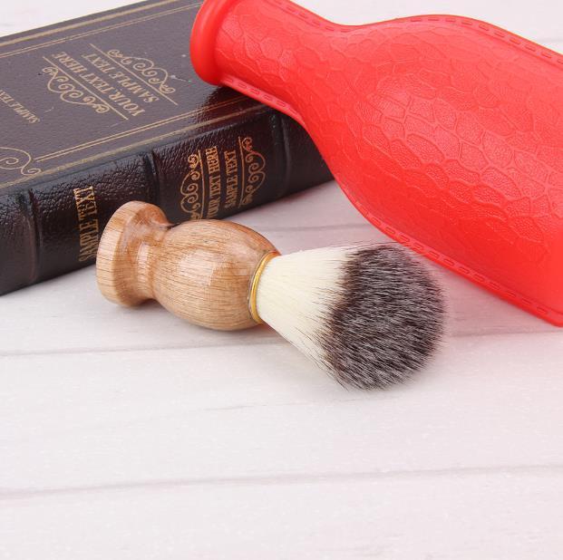 2017 hot Badger Hair Men's Shaving Brush Barber Salon Men Facial Beard Cleaning Appliance Shave Tool Razor Brush with Wood Handle for men