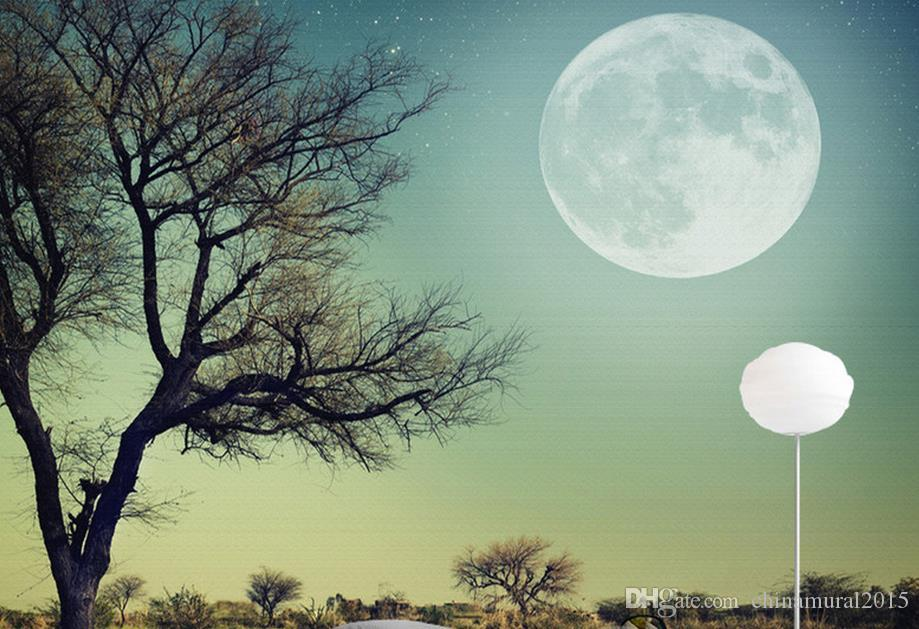 wall papers home decor living room Moon shook the high-end tree moon ceiling murals wallpaper