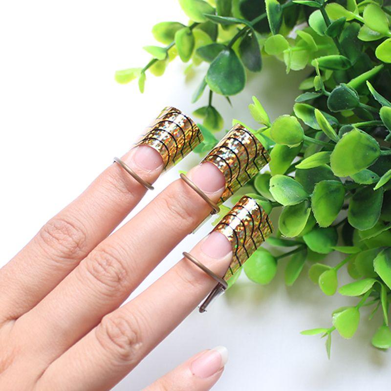 Nail Forms Réutilisable Gel UV Vernis À Ongles Nails Extension Guide Outil Acrylique Français Tips Art Form Français Conseils Pour Les Ongles