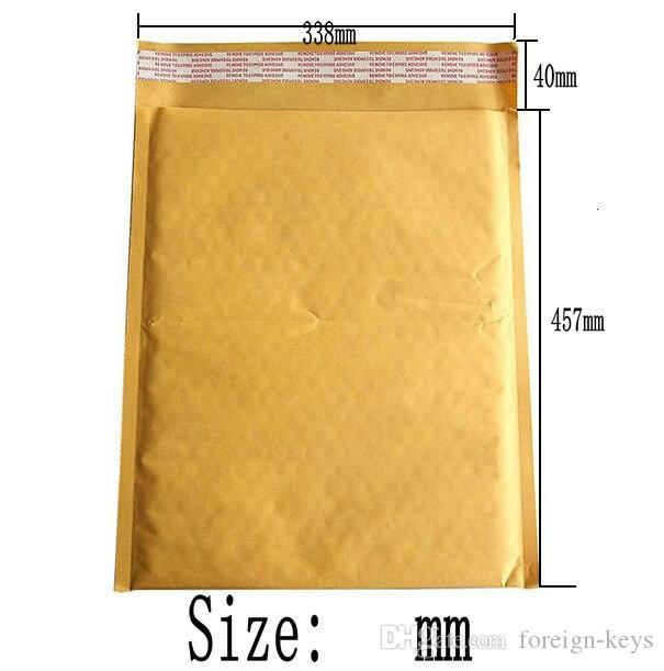 High qulity Kraft Bubble Mailers Padded Envelopes without printing Bubble Cushioning Bag Kraft Paper Bag 457*338+40MM
