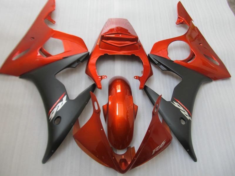 Kit carrosserie carénage moto pour YAMAHA YZF-R6 YZF R6 2003 2004 YZFR6 03 04 Carénage noir carénage + cadeaux YD40