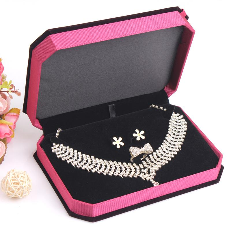 2018 Bride Jewelry Set Display Storage Boxes Gift Box For Necklace
