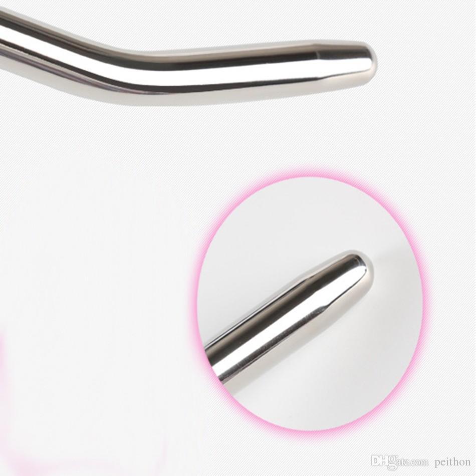 RUNYU 260mm이는 헤드 스테인레스 스틸 카테터 요도 확장제 요도 소리가 들리는 음경 플러그가 사운드 남성 섹스 장난감을 스트레칭 매끄럽게