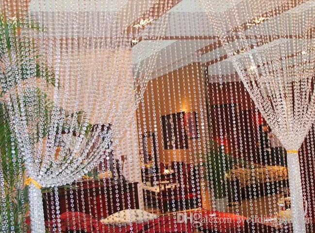 حفل زفاف الديكور واضح الاكريليك الكريستال حبة مثمن الستار جارلاند فروع diy كرافت شجرة عيد الميلاد شنقا زخرفة 2015 جديد arr