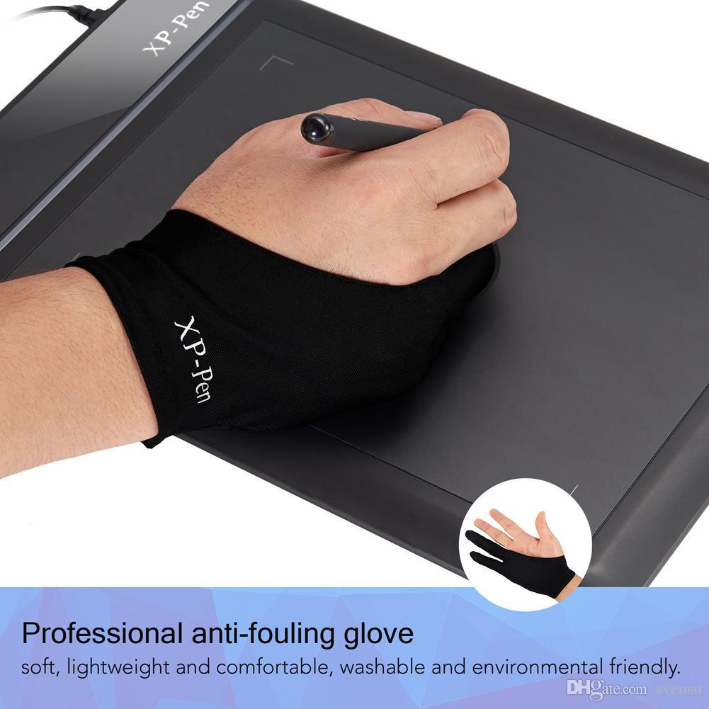XP-Pen Tech. AC01 художник-противообрастающая лайкра перчатки для графический планшет/доска дисплея копия/светодиодный световой короб /трассировка свет коврик бесплатная размер