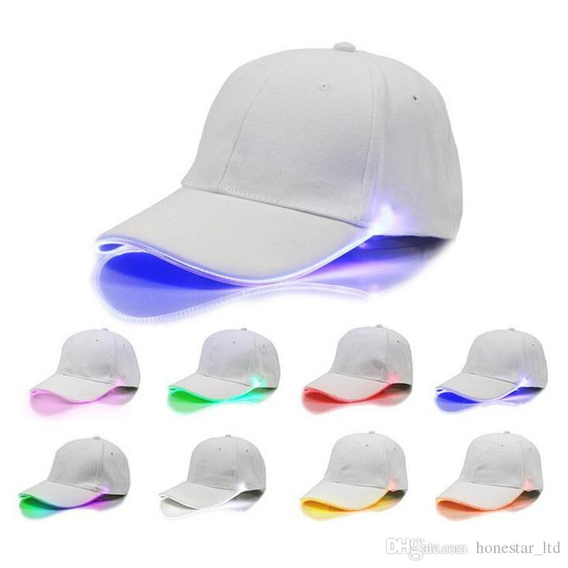 Men Women LED Light Glow Baseball Caps Hot New Fashion Adult Cool Club Party Luminous Noctilucent Flash Hat For Travel Sports 1st Birthday Hats