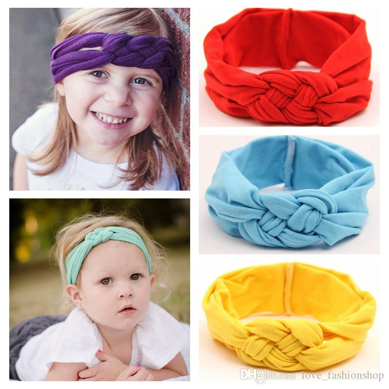 93057796932 2019 Kids Baby Cute Crochet Cross Headbands Infant Girls Elastic Hand Safe Knot  Hair Bands Children S Hair Accessorie Hair Accessories For Flower Girls Buy  ...