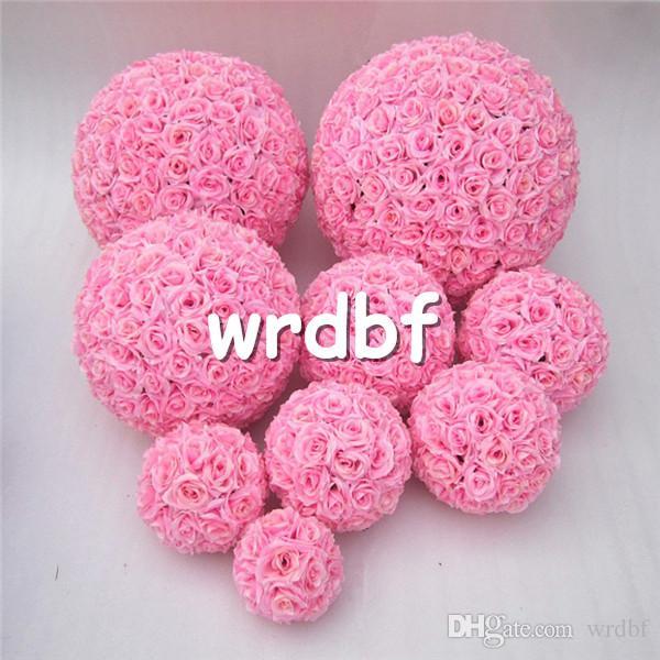 Silk Flower Balls 25cm Diameter Kissing Rose Balls Designs for Wedding Party Shops Artificial Decorative Flowers