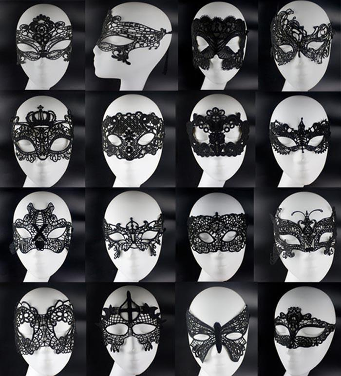 sexy lovely lace masks halloween masquerade masks mardi gras dance woman party masks venetian party half face mask for christmas gift eye mask costume eye - Black Eye Mask Halloween