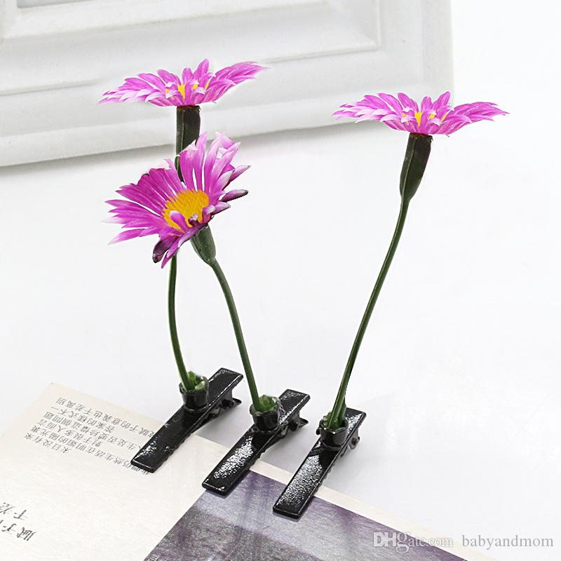 Newest Lovely Novelty Plants grass hair clips headwear Small bud antenna hairpins Lucky grass bean sprout mushroom party hair pin