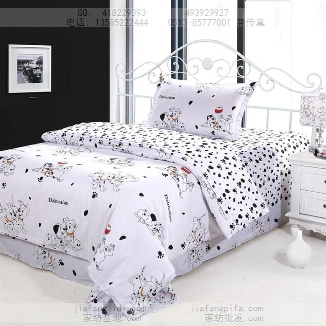 dog print bedding sets cotton bed sheets bedspread kids cartoon twin size children toddler baby quilt duvet cover bedroom linen