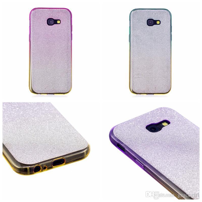 Bling Glitter Sparkle Yumuşak TPU Kılıf Samsung Galaxy S5 S6 S7 Kenar S8 Artı A3 A5 A7 2017 A310 A510 Parlak Silikon Telefon Cilt Kapak 100 adet