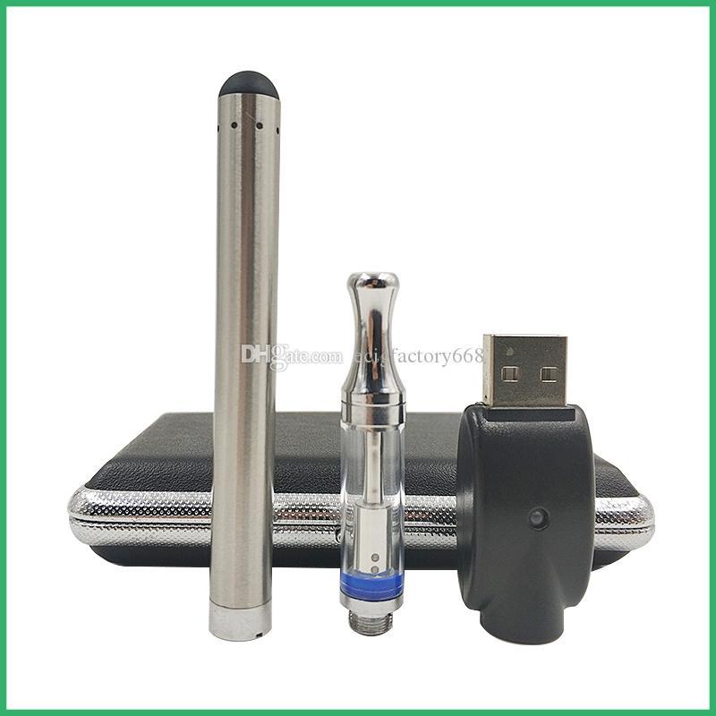 kit di penna vape touch bud bud variabile 0,5ml serbatoio di metallo vetro 92A3 cartuccia dual coil vaporizzatore e cig preheating set di custodie in pelle