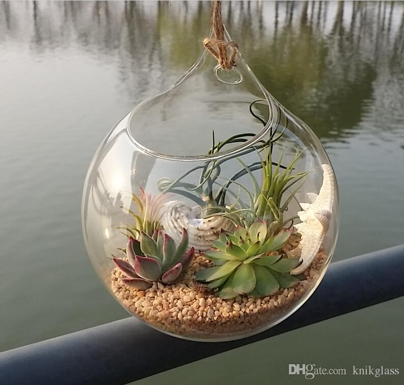 Hanging Glass Air Plants Indoor Wall Glass Vase For Home