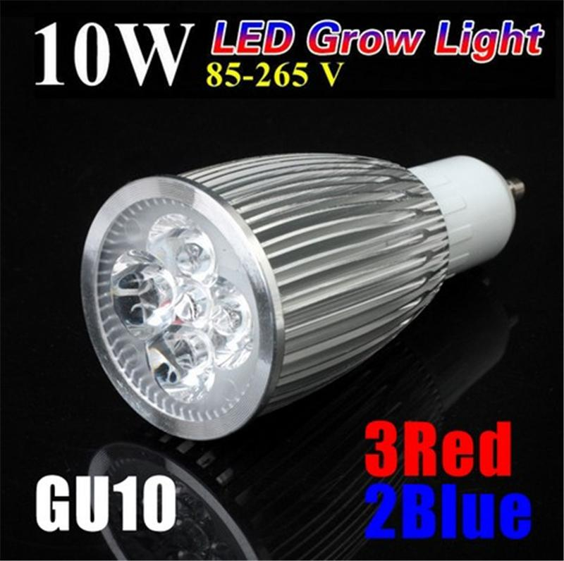 hydroponics lighting gu10 10w plant led grow light lamp bulb 3 red 2 blue for flowering plant. Black Bedroom Furniture Sets. Home Design Ideas