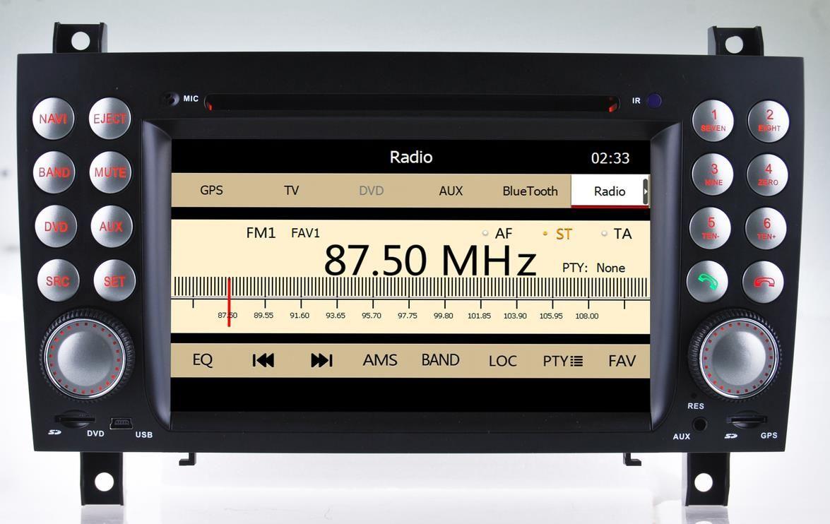 Car head unit sat nav car dvd for mercedes benz slk r171 slk200 slk280 slk350 with gps navigation radio bt stereo tape recorder system