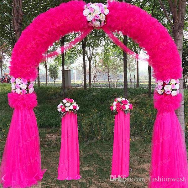 Свадебные арки свадебные украшения реквизит путь сад Куин 2.5 м*2.5 м Eanera партия цветы воздушный шар украшения белый металл провести круговой арки Doo
