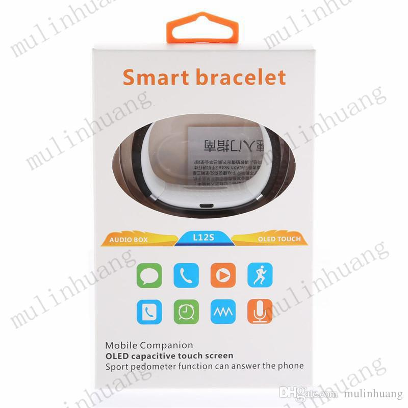 L12S L12 OLED Touch screen Bluetooth 3.0 Bracelet Wrist Watches Smart Watch for IOS iPhone Samsung and Android Phone Retail