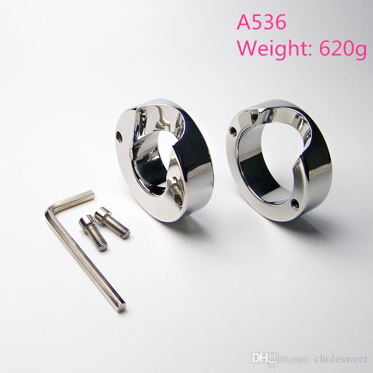 A536 High qualitiy Stainless steel Scrotal load-bearing ring, The cock penis JJ ring, Testicular bondage device 620G, adult products