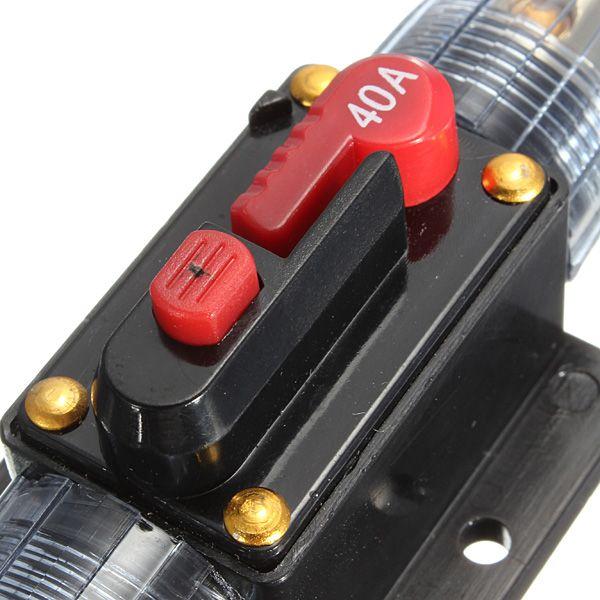 Excellente qualité DC 12V voiture stéréo audio Disjoncteur Fusible en ligne 40AMP 40A commander $ 18no track