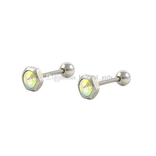 Yeni 316L paslanmaz çelik elmas moda kişilik popüler dil piercing vücut takı 100 adet toptan 5 stil ücretsiz kargo