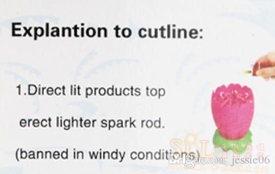 2 layer petals flowering Music candle Birthday Party Wedding Lotus Sparkling Flower Candles light Event Festive Supplies cake accessory