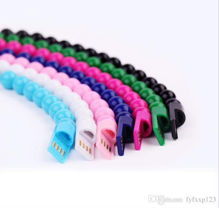 Будда бусины браслет Micro USB кабель зарядного устройства 23 см синхронизации данных зарядки адаптер шнур для iP 7 Samsung S6 S7 HTC Xiaomi A25