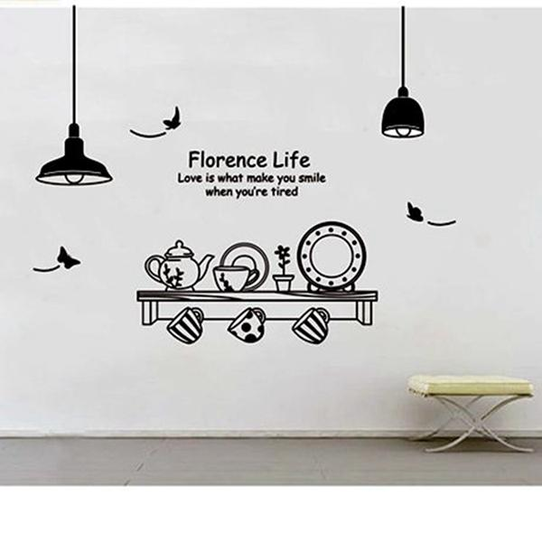 Wall Designs Wall Art Kitchen Utensils Butterfly Letter Removable Wall  Stickers Mural Diy Wallpaper For Room Decal Home Decor Wall Sayings Wall  Slicks From ...