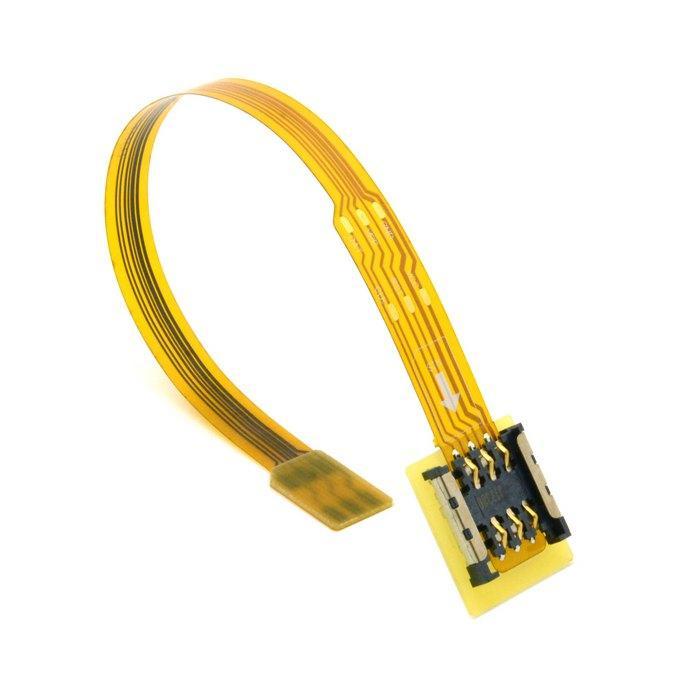 الشركة العامة للفوسفات المواد مايكرو SIM إلى بطاقة SIM نانو محول محول تمديد فليكس الشريط الكابل اختبار تركيبات