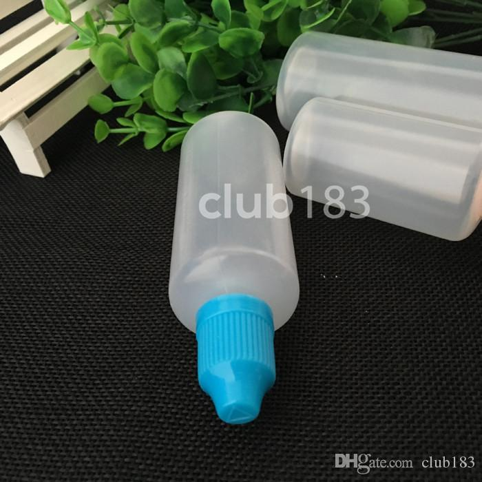 E-Flüssigkeit Flasche leere Plastiktropfflasche 60ml Multicolor Kindersichere Kappe und lange dünne Spitze PE E Flüssigkeit Flasche Auf Lager